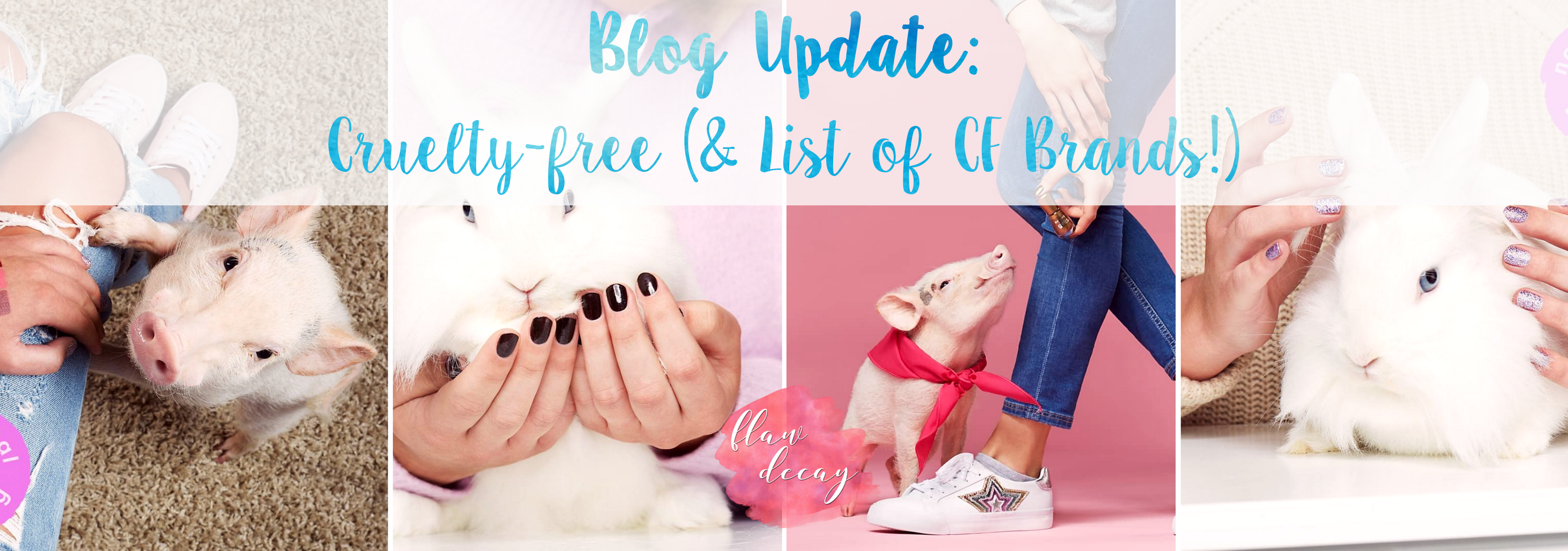 Blog Update: Cruelty-free (+List of CF Brands!)