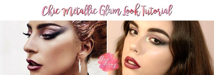 Chic Metallic Glam Look – Tutorial (Sarah Tanno/Lady Gagainspired)