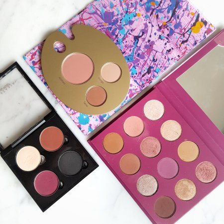 Paint Pretty Palette from Tarte, You Had Me At Hello Palette from Colourpop, and Anastasia Beverly Hills' single shadows