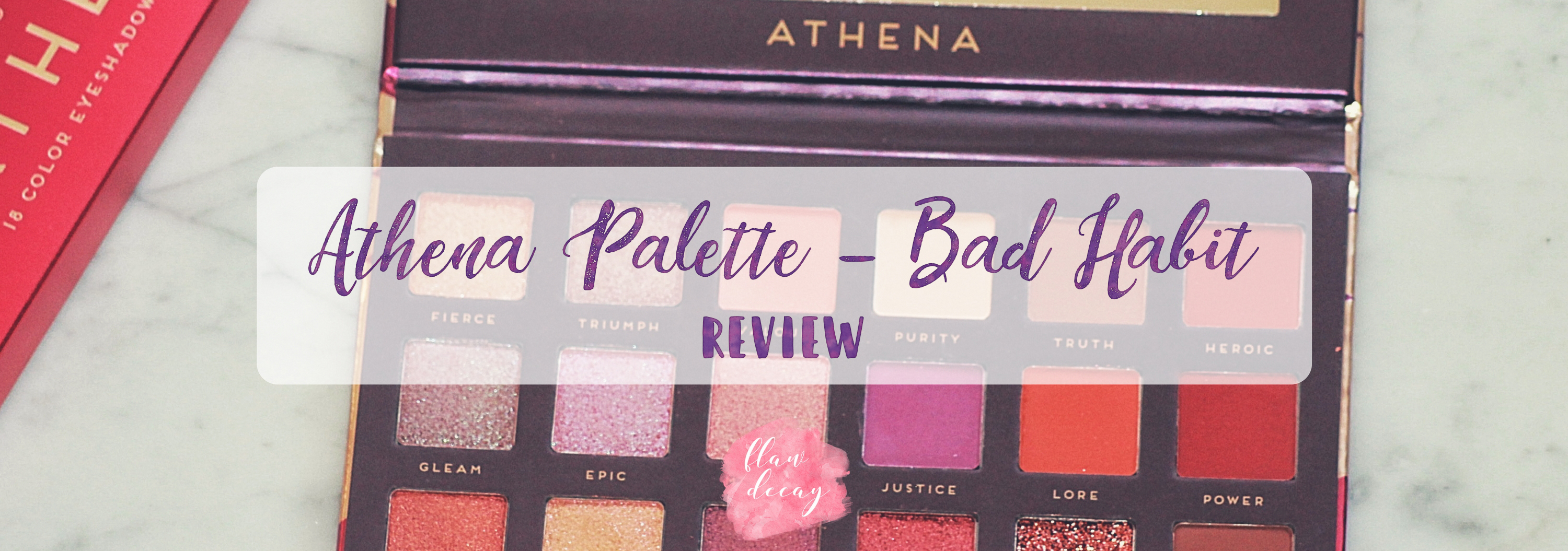 Athena Palette – Bad Habit (Review)