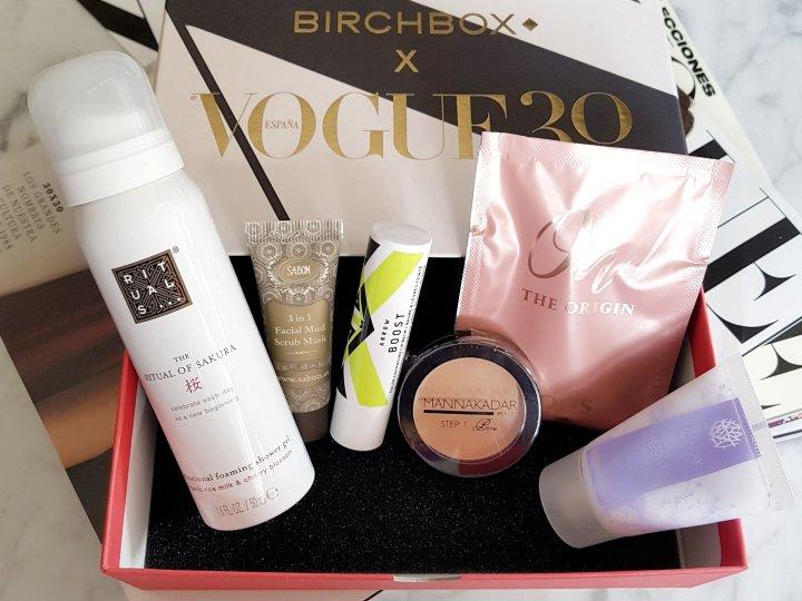 Cajita de Birchbox x Vogue 2018 Noviembre