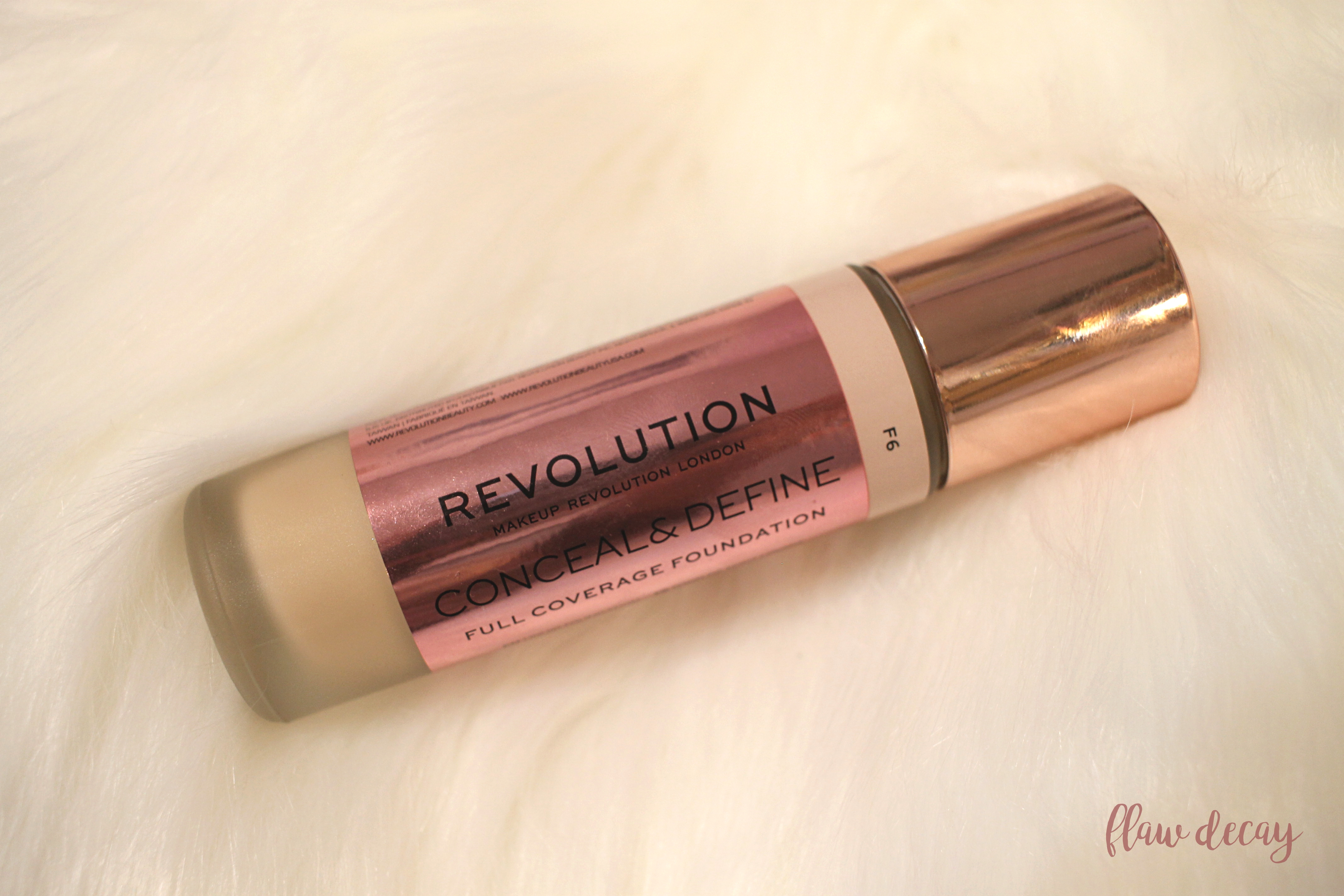 Makeup Revolution Conceal and Define Foundation Review Swatches Wear Test