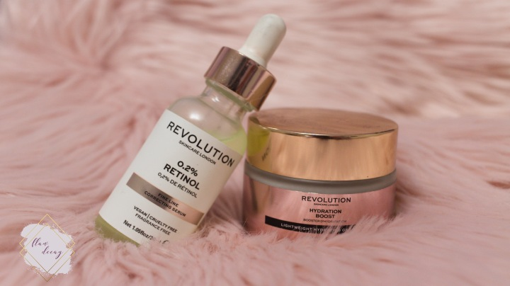 Hydration Boost and 0.2% Retinol Fine Line Correcting Serum from Revolution Skincare