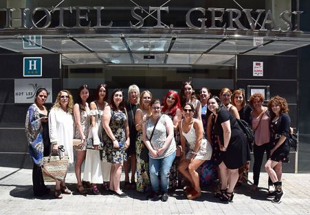Chicas evento 7beautybcn youtubers bloggers barcelona