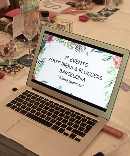 Presentación evento 7beautybcn youtubers bloggers barcelona