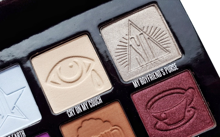 The Mini Controversy Palette, close-up