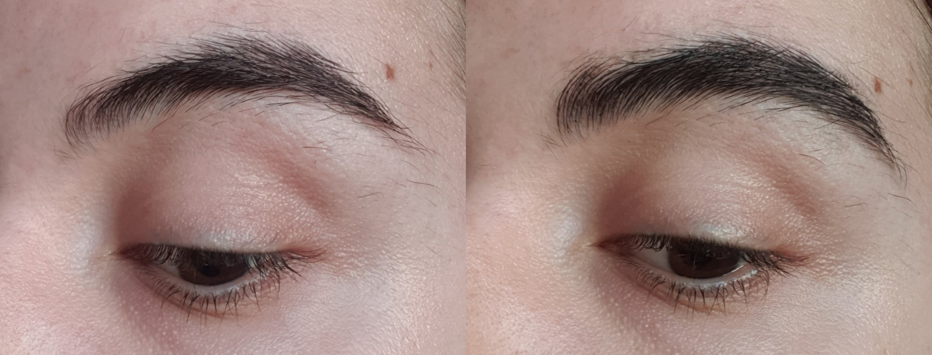 No product VS High Brow Gel only