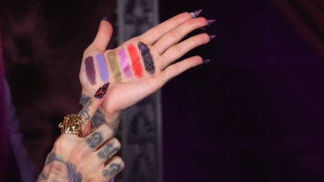 Swatches from the Blood Lust Palette (source: Jeffree Star, Youtube)