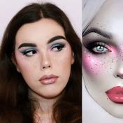 Maquillaje artístico completo. Portfolio de Paula Gómez Martínez, Flaw Decay.