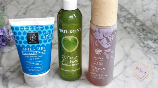 Protección Solar y Polución - Naobay Detox Unpoluted Bruma Facial, CC Cream Naturtint, After Sun APIVITA - 100% Cruelty-free Morning/Night Skincare Routine