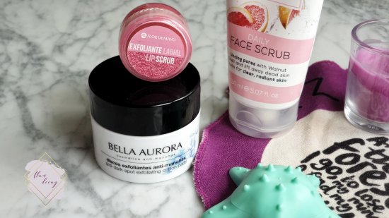 Scrubs Fancy Handy, Flor de Mayo, Creightons, Bella Aurora. Exfoliantes. - 100% Cruelty-free Morning/Night Skincare Routine