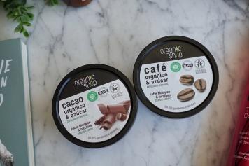 Exfoliantes de café y cacao orgánico y azúcar de Organic Shop - January to May 2020 Empties