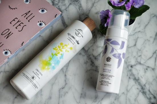 Micellar Water, Herbora, and Foam Cleanser, Naobay   Skincare Products for Pre and Post Workout Skincare Routine
