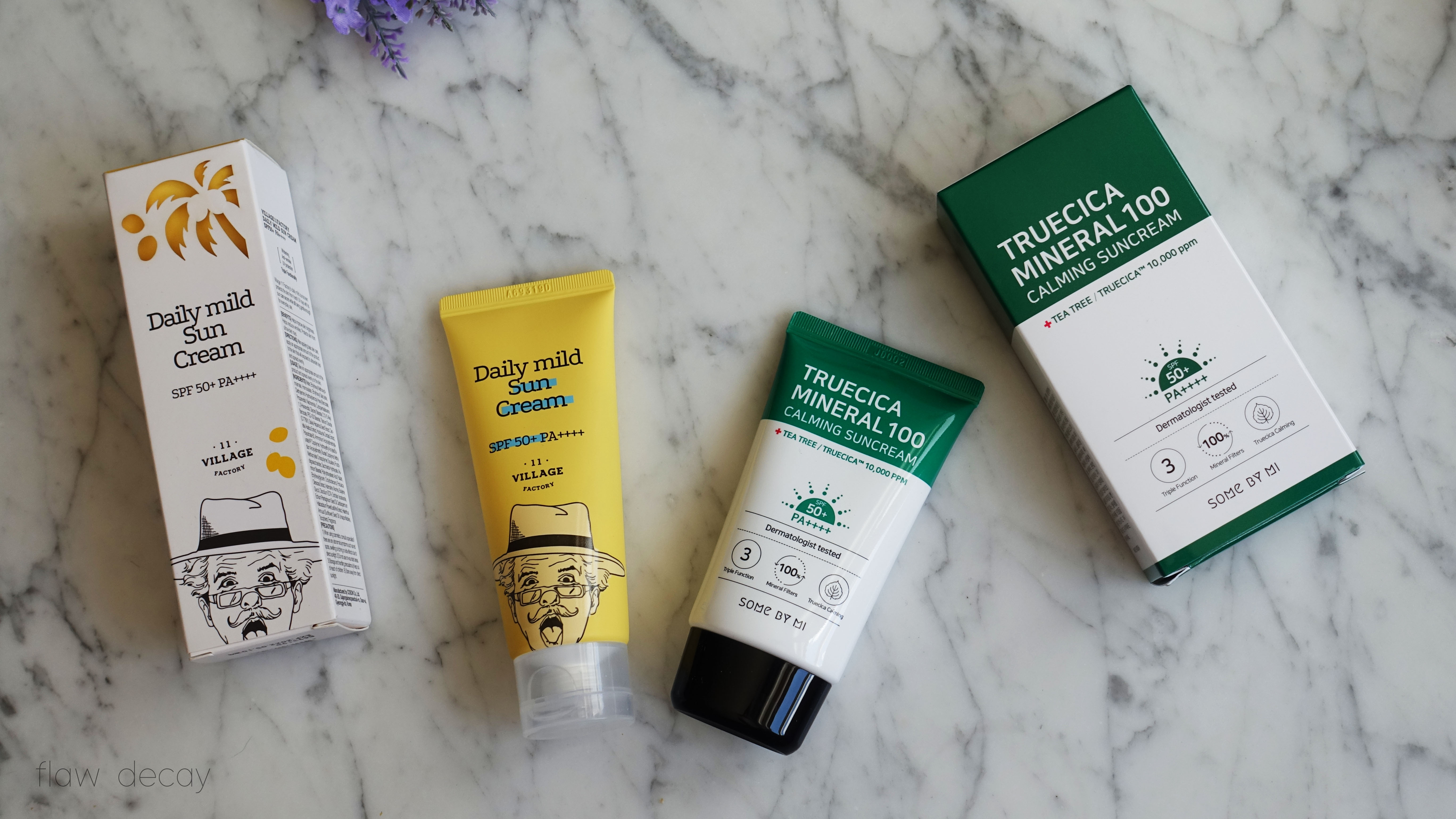 11 Village Factory Daily Mild Sun Cream and Truecica Mineral Calming Suncream Some By Mi - Yes Style First Haul and Impressions