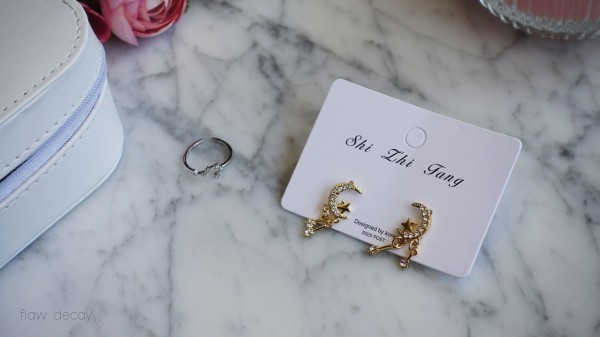 Dren Star Moon Earrings & Arroch Zodiac Ring - Yes Style First Haul and Impressions