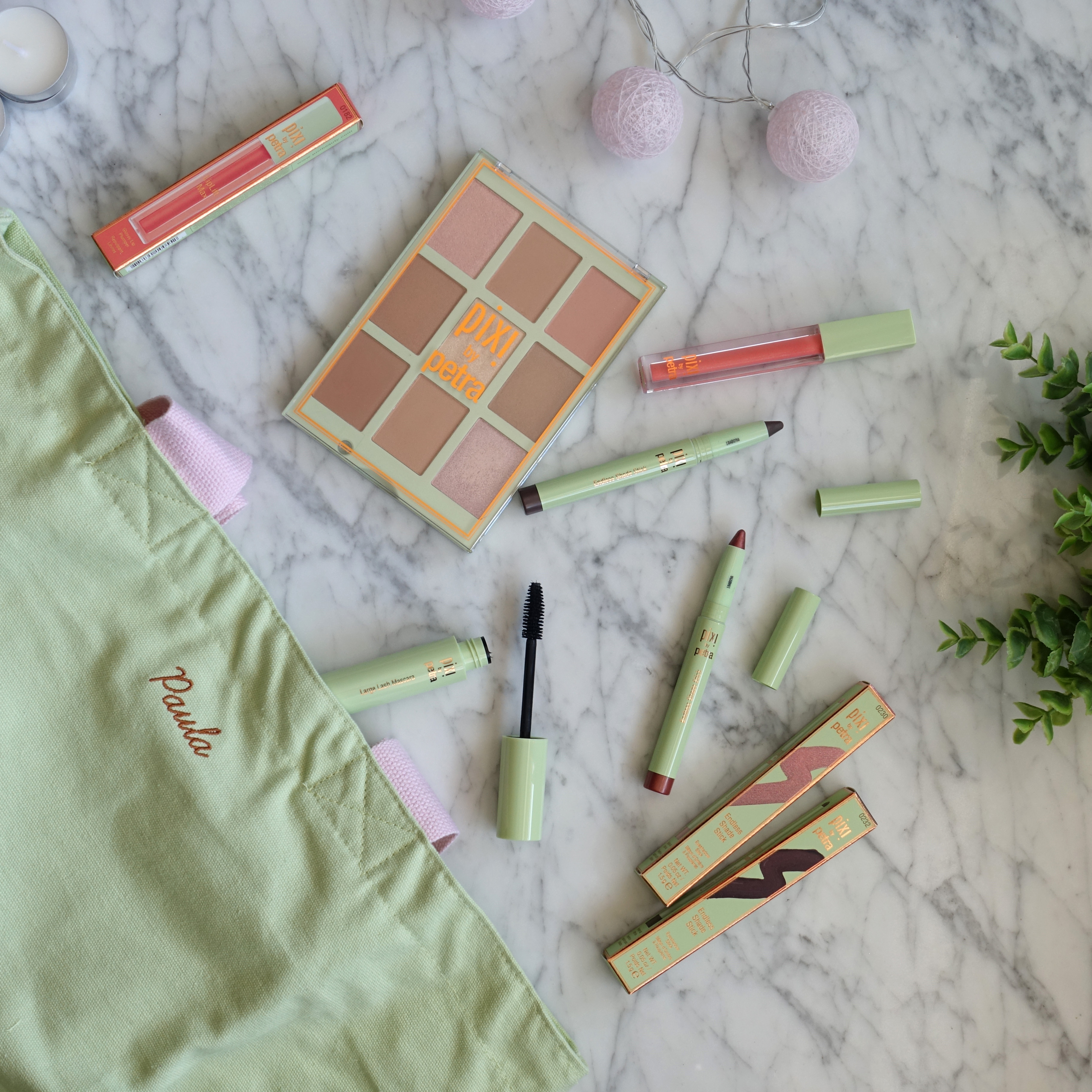 Pixi by Petra's Escape & Let's GLOW! Collection - Shade Sticks, Gloss, Mascara, Palette and Bag