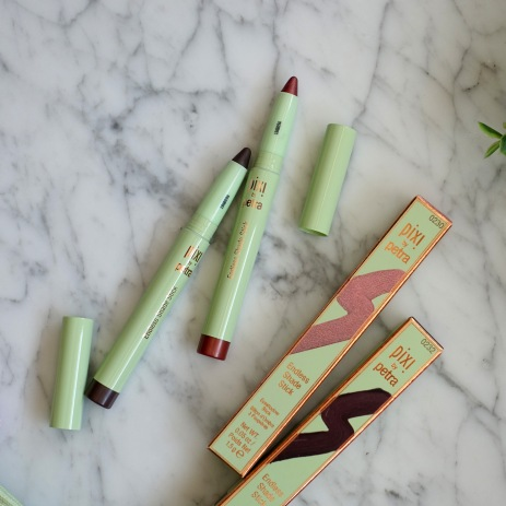 Pixi by Petra's Escape & Let's GLOW! Collection - Endless Shade Sticks in 'CopperGlaze' and 'MatteCocoa'