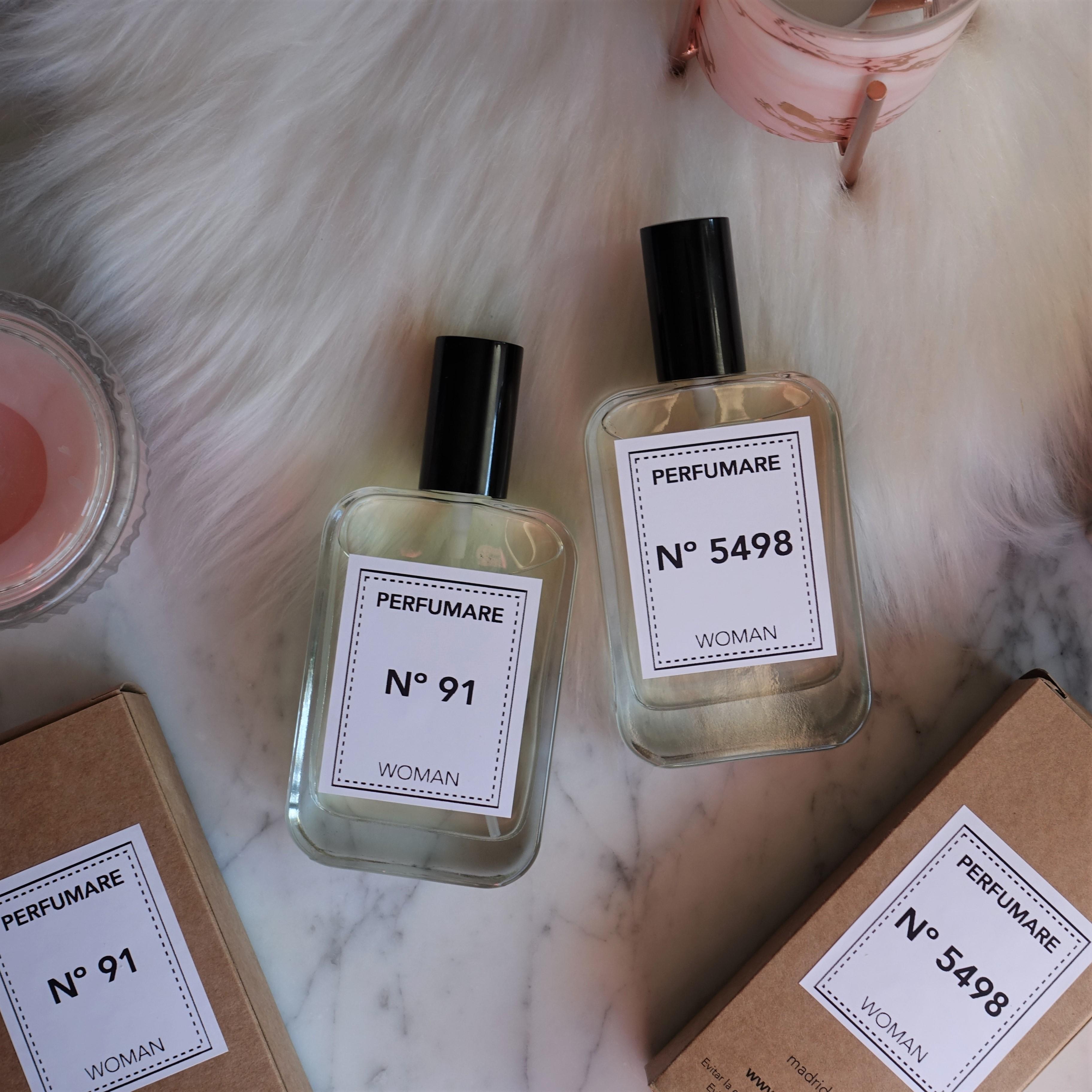 Perfumes Perfumare: Nº 91 (Alien de Thierry Mugler) y Nº 5498 (Fleur Musc For Her de Narciso Rodriguez) (Evento #YBB8ED de Girl Power Team)