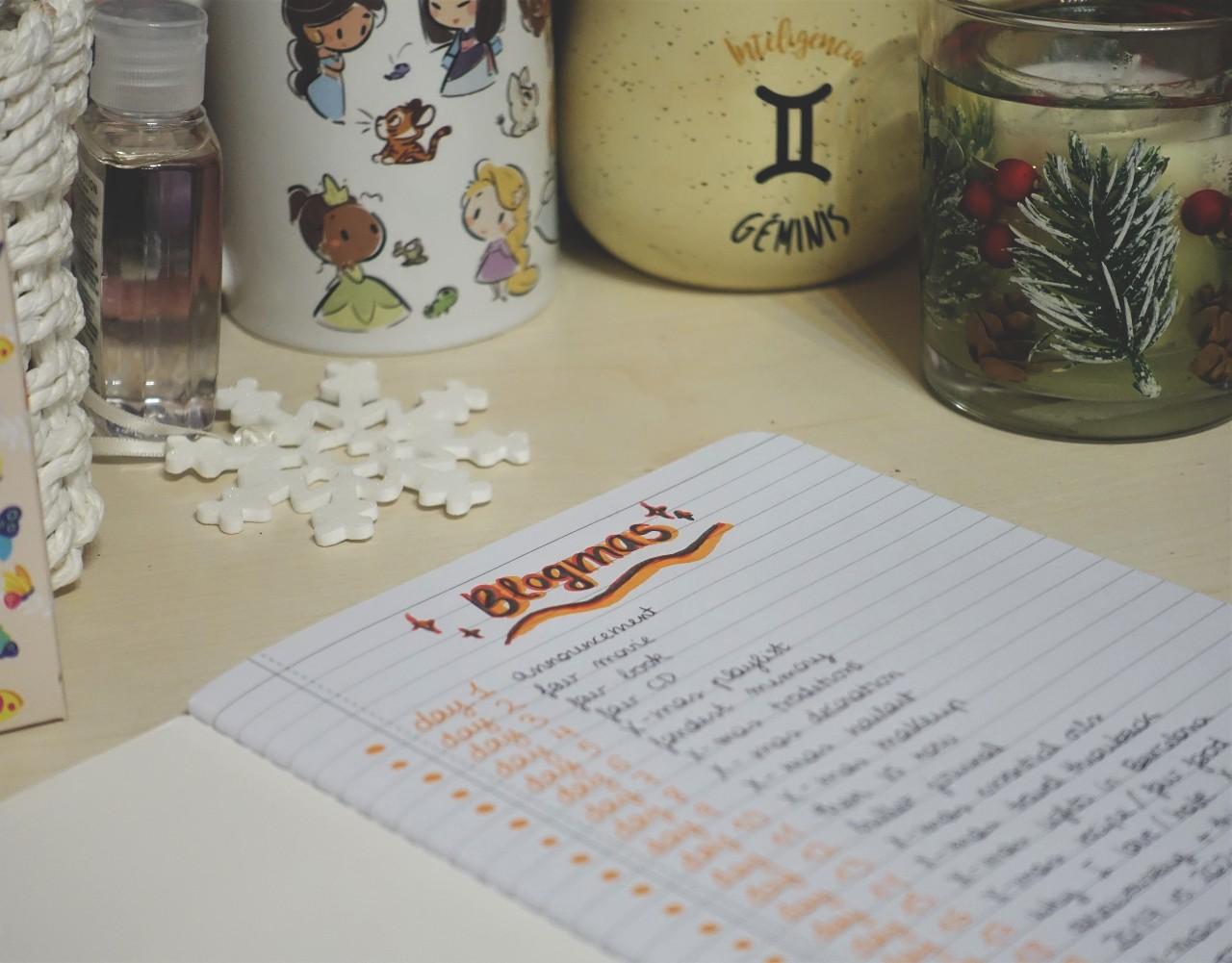 Blogmas Day 1: Planning (2020)