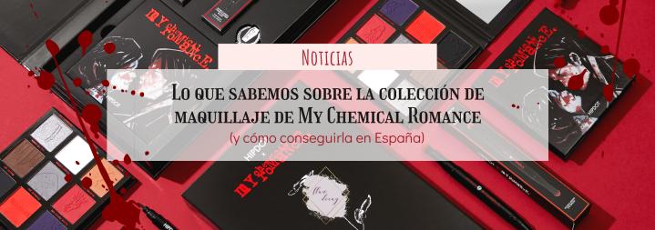 Lo que sabemos sobre la colección de maquillaje de My Chemical Romance (y cómo conseguirla enEspaña)