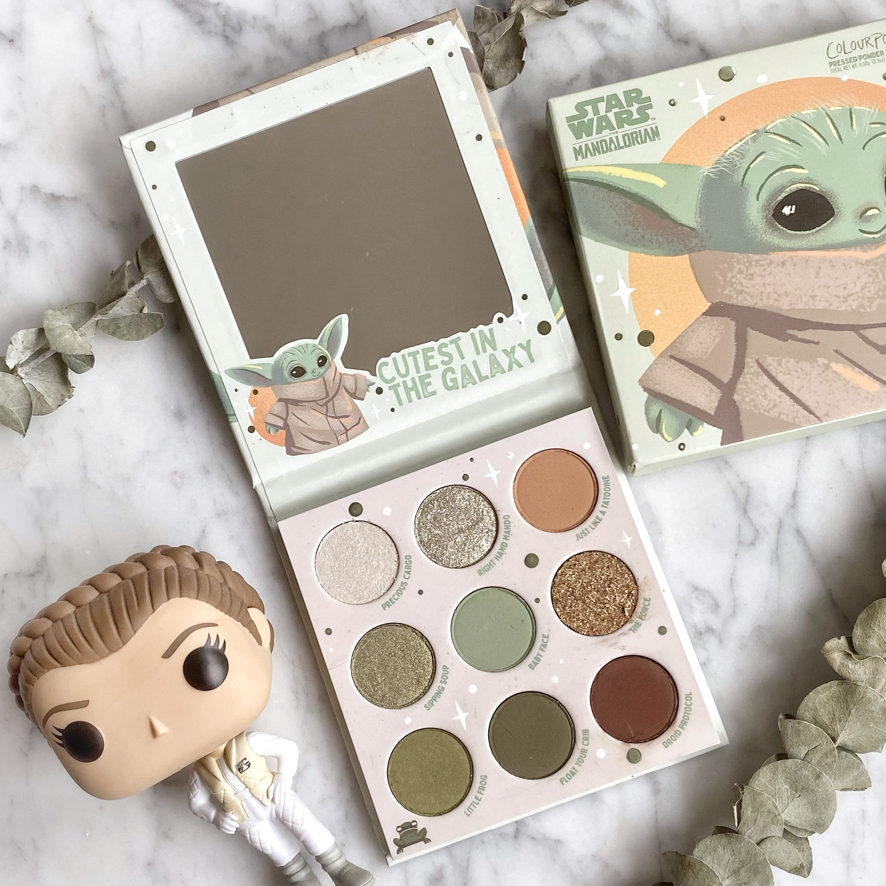 The Child - Colourpop x The Mandalorian Palette Review, Swatches and Look Tutorial